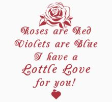 Roses are Red, Violets are Blue Lottle Love Red Kids Tee