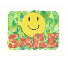 A Smile Can Brighten Your Day Art Print