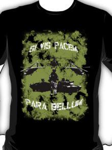 Si vis pacem para bellum USA oliv w. white font T-Shirt