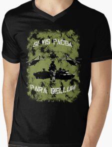 Si vis pacem para bellum USA oliv w. white font Mens V-Neck T-Shirt
