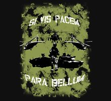 Si vis pacem para bellum USA oliv w. white font Unisex T-Shirt
