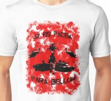Si vis pacem para bellum USA red w. black font Unisex T-Shirt