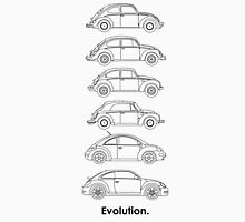 Evolution of the Volkswagen Beetle Unisex T-Shirt