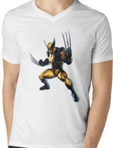 Wolverine-James Howlett- Logan Mens V-Neck T-Shirt