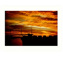 1950's Cloudscape with Boat 2 Art Print