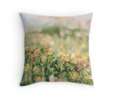 Wildflowers near Trebawith Strand (May) Throw Pillow