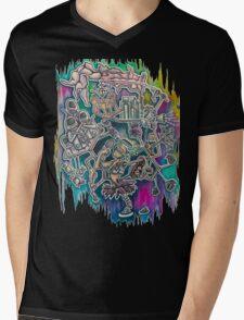 Social Mechanism Mens V-Neck T-Shirt