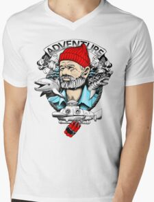 Adventure with Dynamite Mens V-Neck T-Shirt