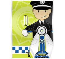 British Policeman on Scooter Poster