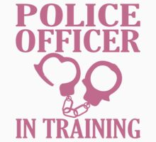 Police Officer In Training Kids Tee