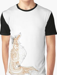 Colored Hennas Fox Skin Graphic T-Shirt