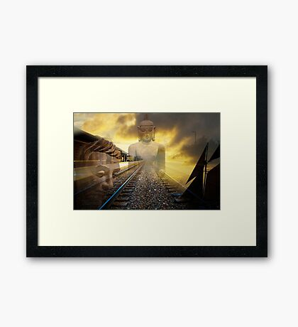Sailing into Zen Framed Print