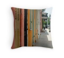 Colours of New Orleans Throw Pillow