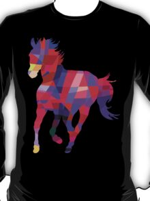 Cool Horse Vector Colorful Design T-Shirt