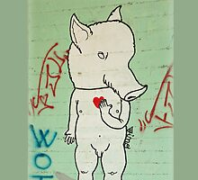 Naked Piggy iPhone Cover by Huw Williams