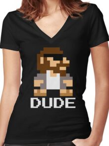 Super Lebowski Brother Women's Fitted V-Neck T-Shirt