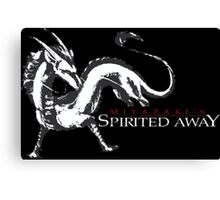 spirited away haku dragon Canvas Print