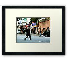On the Crosswalk Framed Print