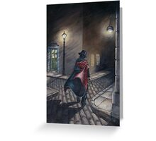 Murder by Gas Lamp Greeting Card