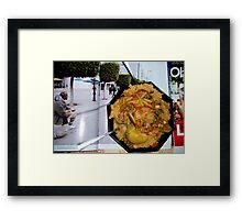 Couscous with  Tunisian revolution flavor Framed Print