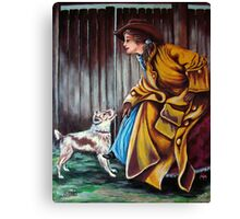 Yes, But Have You Been A Good Dog? Home At Last #2 Canvas Print