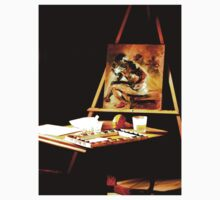 An Art Easel by Joseph  Coulombe