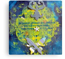 Flower Of Life Be Patient Pleasant and Open.jpg Metal Print