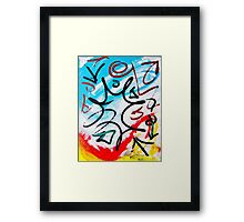 Forgotten Language- Unique Abstract Painting Framed Print
