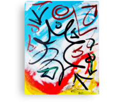 Forgotten Language- Unique Abstract Painting Canvas Print