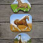 Palomino & Paint Horse fridge magnets by louisegreen