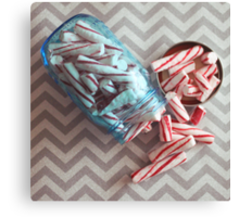peppermint sticks Canvas Print