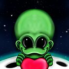 Valentine's Day Card Extraterrestrial Love by Sookiesooker