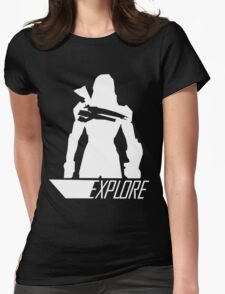 Explore II - Black Background Womens Fitted T-Shirt