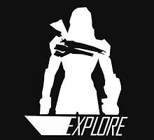 Explore II - Black Background Unisex T-Shirt