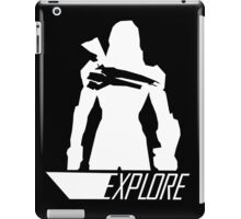 Explore II - Black Background iPad Case/Skin