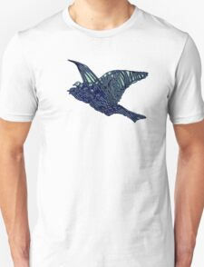 Flock of Blue Birds Unisex T-Shirt