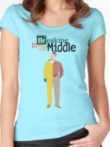 Breaking In The Middle Women's Fitted Scoop T-Shirt