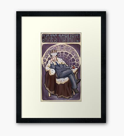 Villain Nouveau- Jim Moriarty Framed Print
