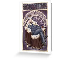 Villain Nouveau- Jim Moriarty Greeting Card