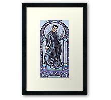 Villain Nouveau- Khan Framed Print