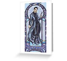 Villain Nouveau- Khan Greeting Card