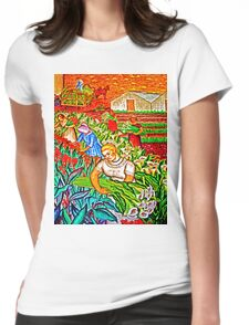 A gathering of Flowers Womens Fitted T-Shirt