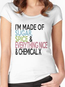What I'm made of.... Women's Fitted Scoop T-Shirt