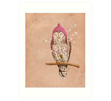 Happy Owl Art Print