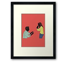 The Big Question Framed Print