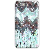 SHINE ON - WINTER LOVE, Beautiful SIlver White Black Chevron Pattern Polka Dota Abstract  iPhone Case/Skin