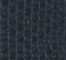 Space Grey Bubble Wrap iPad Cover by Huw Williams