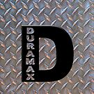Duramax black D on diamond plate  by thatstickerguy