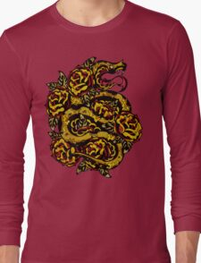 Traditional Snake Tattoo Design Long Sleeve T-Shirt