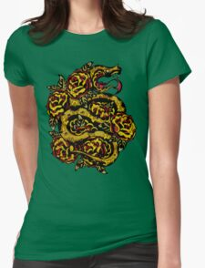 Traditional Snake Tattoo Design Womens Fitted T-Shirt